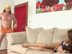 Sexy footjob from  horny Gia Jakarta