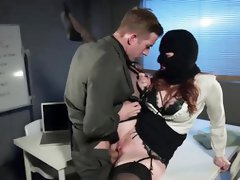 Tattooed secretary got down and dirty with her boss