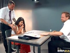 Sex in the jail with a miniature dick-sucking Latina Gina Valentina
