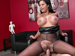 big breasted mary jean rides xander's hard cock in the office