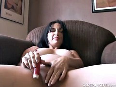 Super sexy old spunker imagines dare her juicy pussy