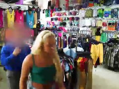 Hot shoplifter Ariel Mcgwire fucks a huge dick