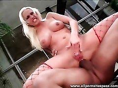 Nicki Hunter boned in the ass outdoors