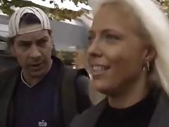 German Blonde Fucked Outdoors