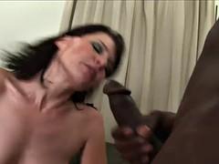 interracial monster cock gangbang for a slutty brunette