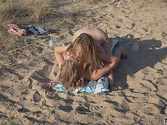 Passionate girls are sharing strong outdoor oral sex scenes