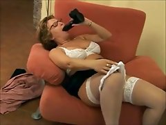 Big Titted Mature & Dildo - Best Scene